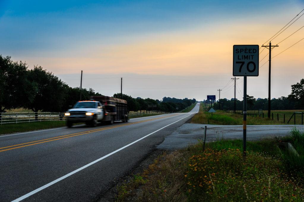 Sunset somewhere on Texas road - Waco, TX - © TsWISsTER