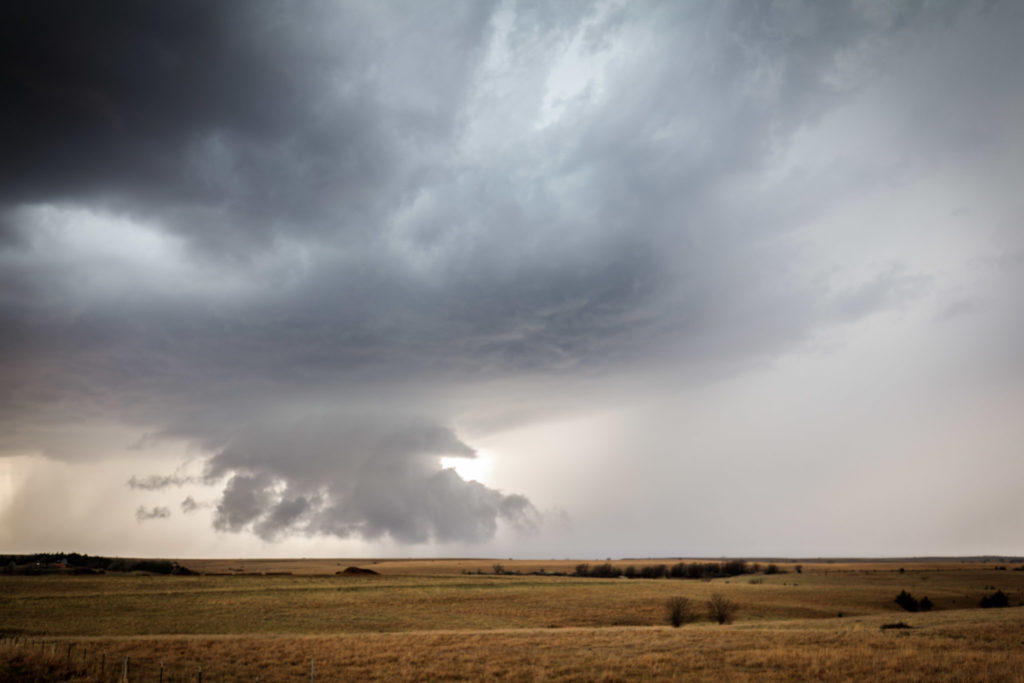 Wall cloud - Russell, KS - © TsWISsTER