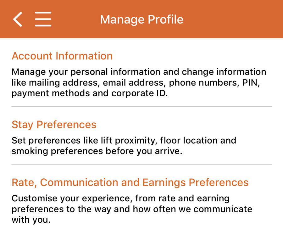 IHG mobileapp profile