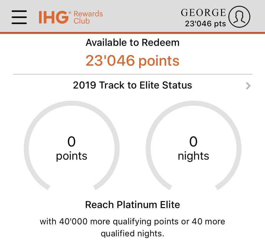 IHG mobileapp spire elite status