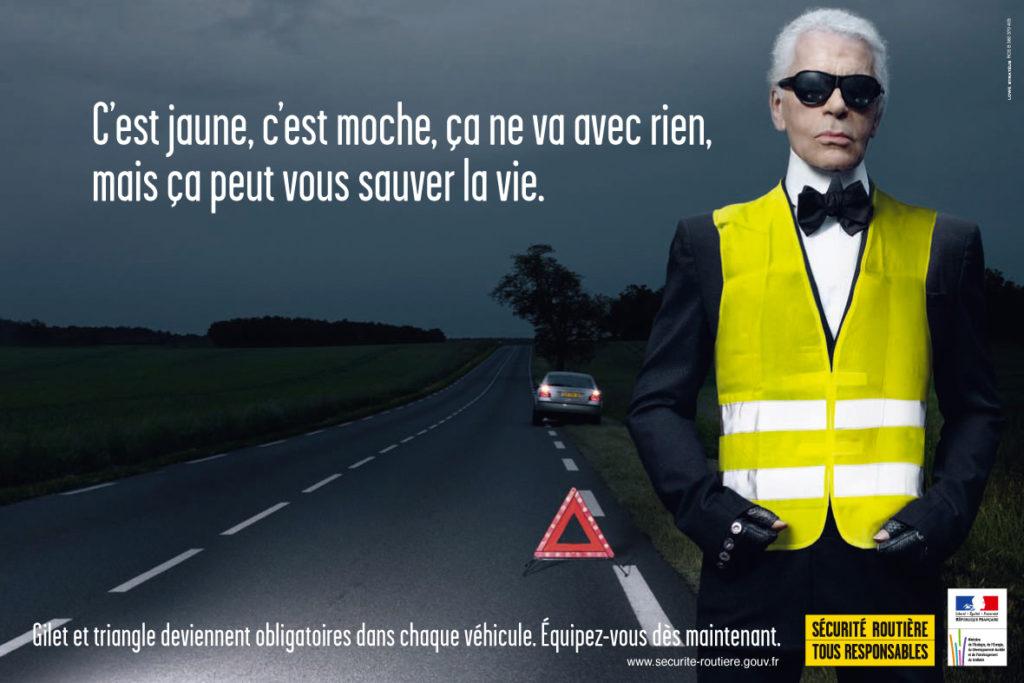 campagne karl lagerfeld sécurité routière